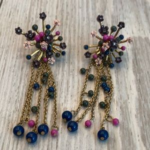🍒Vintage Bead Golden Earrings 🍒